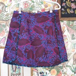 J. Crew Midnight Floral Tapestry Skirt 10